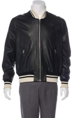 IRO Leather Bomber Jacket black Leather Bomber Jacket