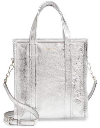 Balenciaga Extra Small Bazar Metallic Lambskin Leather Shopper