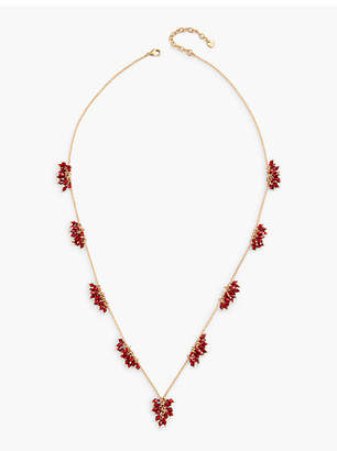 Talbots Long Flower Burst Necklace
