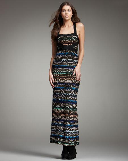 Missoni Zigzag Cross-Back Maxi Dress