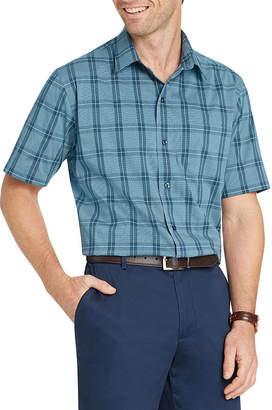Van Heusen Short Sleeve Dots Button-Front Shirt-Slim
