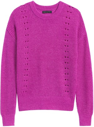 Banana Republic Cropped Pointelle-Knit Sweater