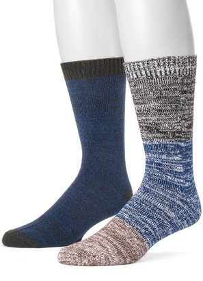 Muk Luks Men's 2-pack Yarn Boot Socks