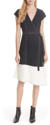 Joie Mahesa Colorblock Wrap Dress