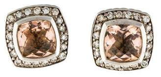 David Yurman Morganite & Diamond Albion Earrings