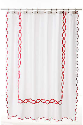 One Kings Lane Matouk For Gianna Shower Curtain - Shocking Pink