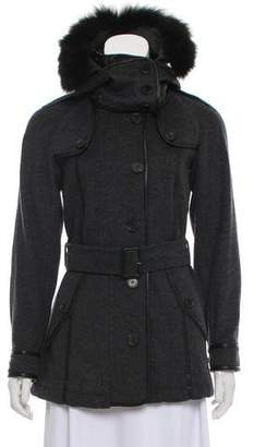 Burberry Virgin Wool Hooded Coat