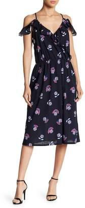 Joe Fresh Cold Shoulder Ruffle Floral Dress
