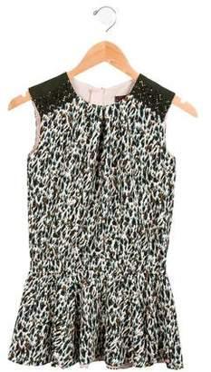 Catimini Girls' Eyelet-Accented Printed Dress