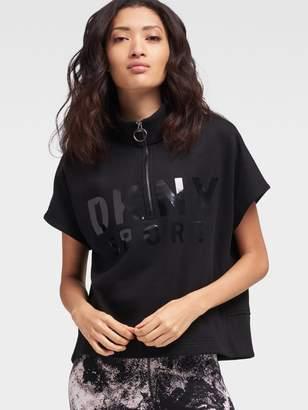 DKNY Half-Zip Lacquer Logo Pullover