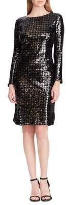Lauren Ralph Lauren Long Sleeve Sequin Dress