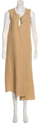 Acne Studios Linen-Blend Maxi Dress