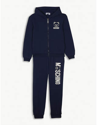 Moschino Bear logo cotton tracksuit 4-14 years
