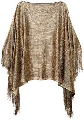 d99d0785d0999 Orchid Row s Shimmery Swim Suit Cover Up Open Knit Poncho ...