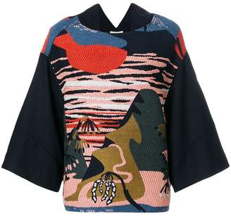 Henrik Vibskov oversize embroidered blouse