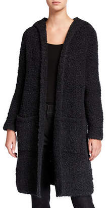 Eileen Fisher Open-Front Hooded Long Cardigan