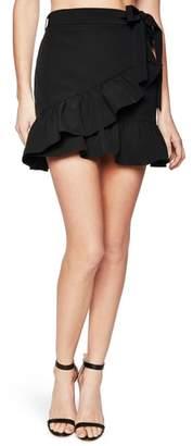 Bardot Frill Faux Wrap Skirt