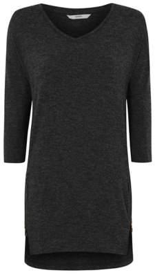 George Dark Grey Knitted Zip Detail Tunic