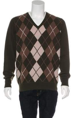 Burberry Argyle Cashmere Sweater