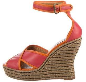 Lanvin Ankle Strap Wedge Sandals