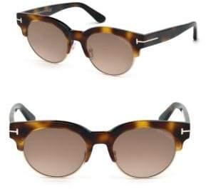 Tom Ford Henri 52MM Round Cat-Eye Sunglasses