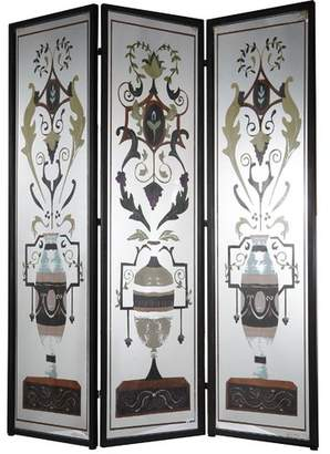 "Astoria Grand Lisenby 75.5"" x 59"" Decorative Screen Metal/Iron 3 Panel Room Divider"