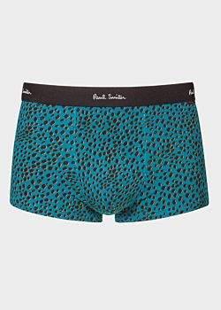 Men's Turquoise 'Cheetah' Print Low-Rise Boxer Briefs