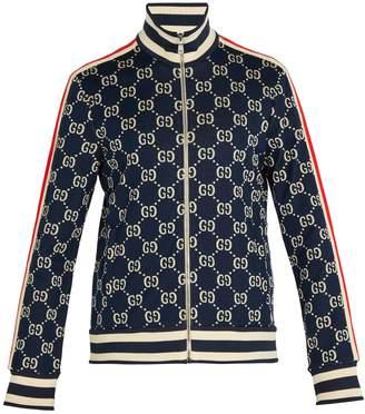 Gucci Logo-jacquard cotton track jacket