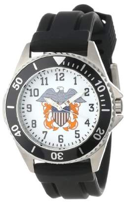 U.S. Navy Women's W000515 Honor Stainless Steel Rubber Strap Watch