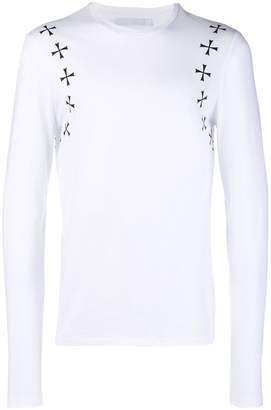 Neil Barrett cross print sweater