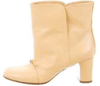 Céline Round-Toe Ankle Boots
