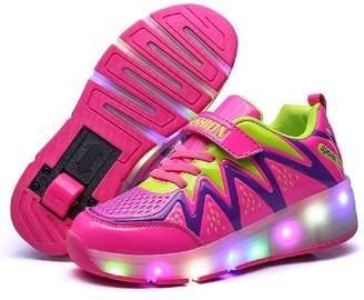 3.1 Phillip Lim Nsasy YCOMI LED Light up Roller Sneaker Single Wheel Double Wheel Wheel Shoes Roller Shoes M EU/13 M US Little Kid, )
