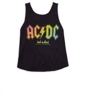 Rowdy Sprout Toddler's, Little Girl's & Girl's AC/DC Tank Top