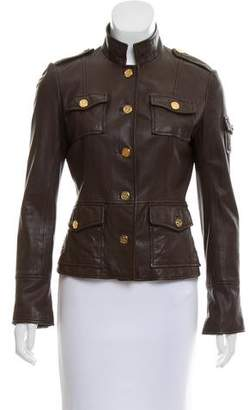 Tory Burch Button-Up Leather Jacket
