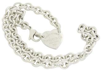 Tiffany & Co. & Co. Return To 925 Sterling Silver Heart Tag Choker Necklace