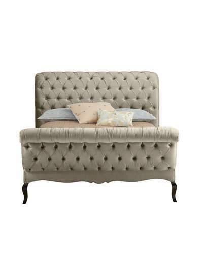 Haute House Champagne Tufted King Bed