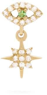 Ileana Makri Diamond, Tsavorite & 18kt Gold Single Earring - Womens - Gold