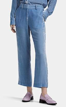 Sies Marjan Women's Willa Silk-Cotton Corduroy Crop Trousers - Lt. Blue