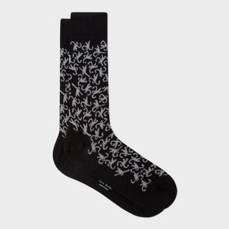 Men's Black Monkey Pattern Socks $30 thestylecure.com