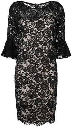 DKNY floral lace midi dress