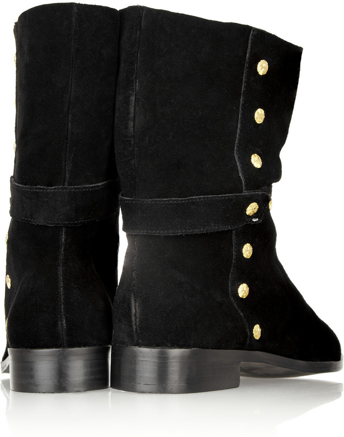 Twelfth St. By Cynthia Vincent Goldie studded suede ankle boots