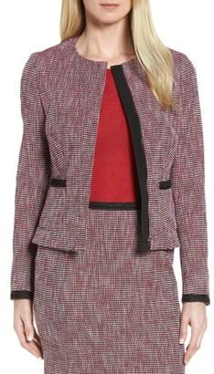 Women's Boss Kabira Tweed Suit Jacket $495 thestylecure.com