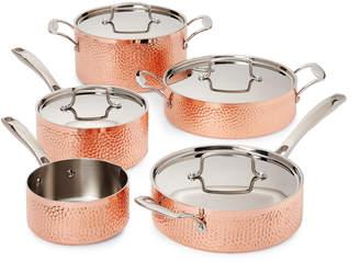 Cuisinart 9-Piece Hammered Copper Cookware Set