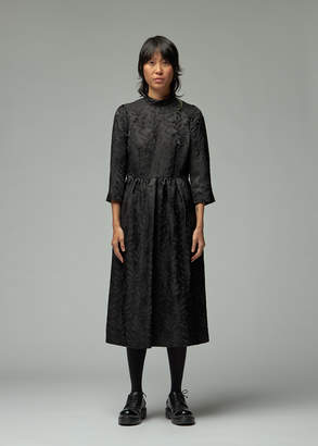 Noir Kei Ninomiya Long Sleeve Floral Jacquard Dress