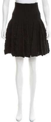 Alaia Fit and Flare Knee-Length Skirt