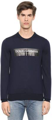Dolce & Gabbana Logo Tape Wool Knit Sweater