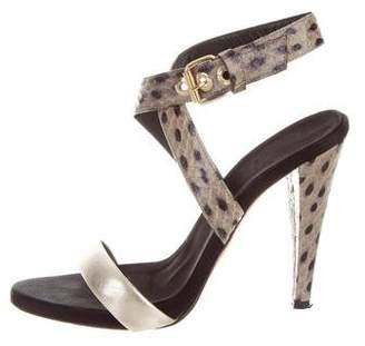 Giambattista Valli Embossed Ankle Strap Sandals
