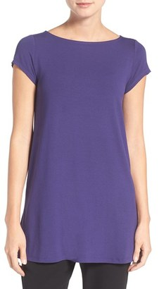 Women's Eileen Fisher Bateau Neck Tunic Top $138 thestylecure.com