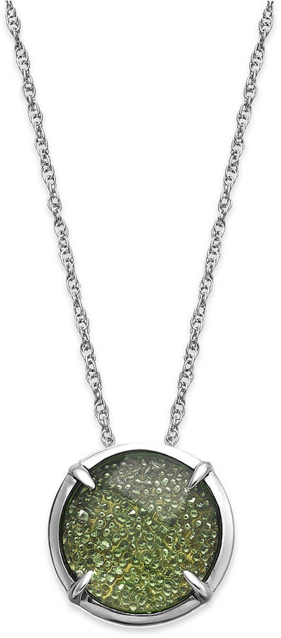 Swarovski Kaleidoscope Green (10 ct. t.w.) and Clear (22 ct. t.w. Crystal Pendant Necklace in Sterling Silver