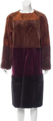 Oscar de la Renta Striped Mink Fur Coat w/ Tags